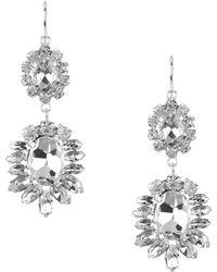 Cezanne - Sofia Rhinestone Chandelier Earrings - Lyst