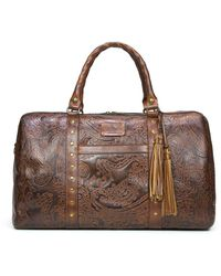 Patricia Nash Burnished Tooled Lace Collection Milano Tasselled Studded Weekender