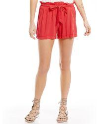 Freestyle - Alba Paperbag Waist Soft Shorts - Lyst