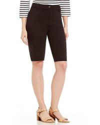 Ruby Rd. - Fly Front Tech Stretch Shorts - Lyst