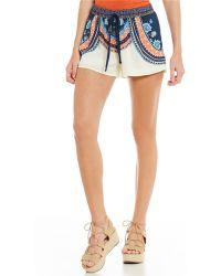 Freestyle - Border-printed Soft Shorts - Lyst