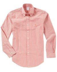 Brooks Brothers - Seersucker Gingham Regent-fit Long-sleeve Woven Shirt - Lyst