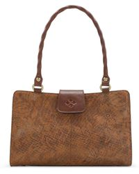 Patricia Nash - Napa Etched Floral Collection Rienzo Satchel - Lyst