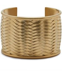 Vince Camuto - Woven Textured Cuff Bracelet - Lyst