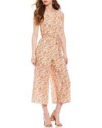 June & Hudson - Ditsy Floral Print Jumpsuit - Lyst