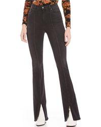 Joe's Jeans - High Rise Slit Hem Micro Flared Jeans - Lyst