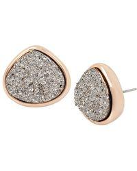 Kenneth Cole - Black Druzy Stud Earrings - Lyst