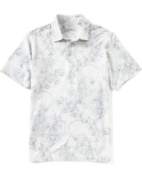 18b4887b Tommy Bahama 'houston Astros - Fairweather Fronds' Print Pique Polo in Blue  for Men - Lyst