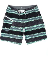 "Under Armour - Tide Chaser Striped 8 1/2"" Inseam Board Shorts - Lyst"