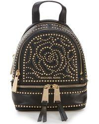 2f8fbdf3ec0 MICHAEL Michael Kors - Rhea Extra Small Messenger Backpack - Lyst