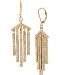 Kenneth Cole - Crystal Stone Stick Fringe Drop Earrings - Lyst