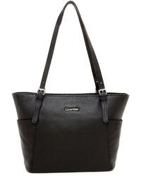Calvin Klein - Pebble Leather Tote - Lyst