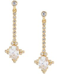 Kate Spade - Linear Oval Stud Earrings - Lyst