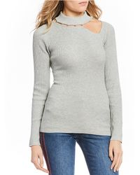 Guess - Long Sleeve Holly Beaded Cut Out Sweater - Lyst