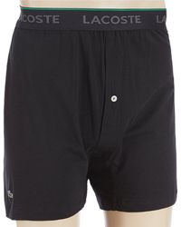 Lacoste - Essential Knit Boxers 3-pack - Lyst