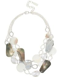 Kenneth Cole - Mixed Shell Multi Row Statement Necklace - Lyst
