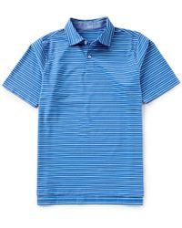Fairway & Greene - Short-sleeve Stripe Natural Jersey Golf Polo - Lyst