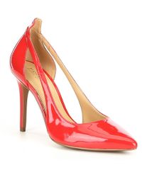 f392c0d25a97 Lyst - MICHAEL Michael Kors Delphine Suede Bow Pump in Pink