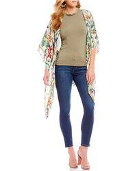 Nicole Miller - Artelier Safari Floral Print Silk Kimono - Lyst