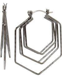 BCBGeneration - Geometric Hexagon Hoop Statement Earrings - Lyst