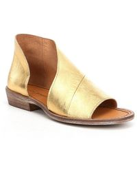 Free People | Mont Blanc D ́orsay Leather Slip-on Sandals | Lyst