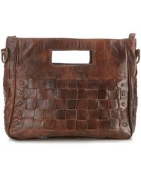 Bed Stu - Orchid Studded Woven Satchel - Lyst