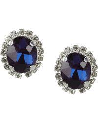 Cezanne - Rhinestone Cluster Stud Earrings - Lyst