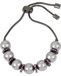 Kenneth Cole - Pearl Adjustable Slider Friendship Bracelet - Lyst