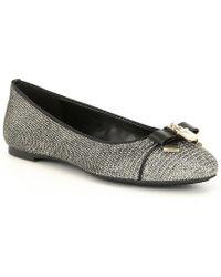 Alice Metallic Glitter Fabric Ballet Flats cQ1t9XnV0k