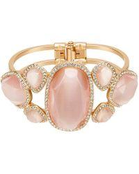 Belle By Badgley Mischka - Pav Multi Stone Hinge Bracelet - Lyst