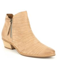 Paul Green - Shasta Leather Block Heel Bootie - Lyst