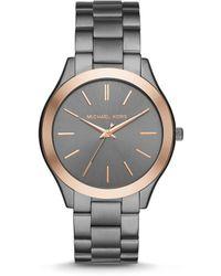 Michael Kors - Slim Runway Analog Bracelet Watch - Lyst