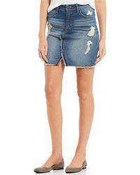 Jessica Simpson - Adorn Splatter High Rise Mini Skirt - Lyst