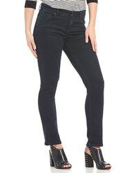 Jones New York - Madison Stretch Denim Midnight Wash Slim Straight-leg Jeans - Lyst