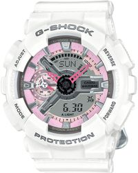 G-Shock - Women's Analog-digital S Series White Bracelet Watch 49x46mm Gmas110mp-7a - Lyst