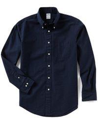 Brooks Brothers - Seersucker Stripe Regent-fit Long-sleeve Woven Shirt - Lyst