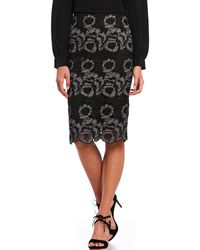 Antonio Melani - Frances Floral Embroidered Pencil Skirt - Lyst