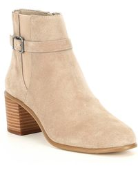 Gianni Bini - Helton Suede Belted Side Gore Booties - Lyst