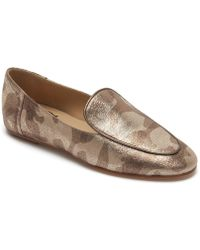 Etienne Aigner - Camille Camo Print Metallic Leather Loafers - Lyst