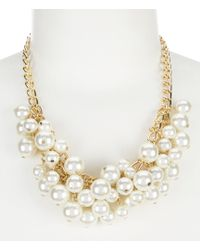 Dillard's - Tailored Cluster Pearl Shakey Frontal Necklace - Lyst