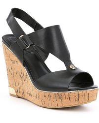 Guess - Hulda Platform Wedge Sandals - Lyst