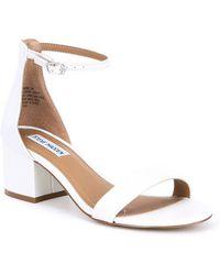8bf0258c544 Steve Madden - Irene Leather Block Heel Dress Sandals - Lyst