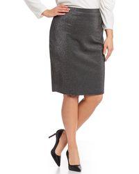 977218a93d7 Lyst - Calvin Klein Plus Size Faux-leather Wrap Skirt in Black