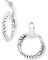Lauren by Ralph Lauren - Silver Twisted Drop Earrings - Lyst