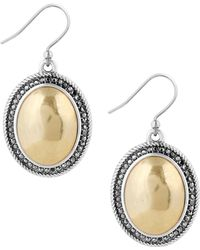 Lucky Brand - Pave Disc Drop Earrings - Lyst