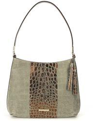 Brahmin - Bowery Collection Farrah Hobo Colorblock Bag - Lyst