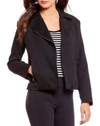 Isaac Mizrahi New York - Moto Zipper Jacket - Lyst
