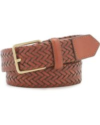 Cole Haan - Stretch Woven Leather Belt - Lyst