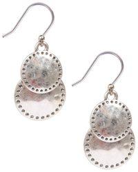 Lucky Brand - Double Drop Earrings - Lyst