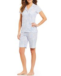 Miss Elaine - Cottonessa Paisley-print Bermuda Pajamas - Lyst